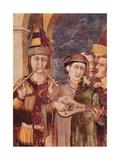 St. Martin Receives the Investiture as Knight by Emperor Julian Kunstdrucke von Simone Martini