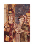 St. Martin Receives the Investiture as Knight by Emperor Julian Giclee Print by Simone Martini