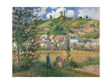 Landscape at Chaponval (Val d'Oise) Affiches par Camille Pissarro
