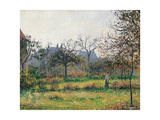 Woman in an Orchard, Autumn Morning, Garden at Eragny Prints by Camille Pissarro