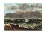 Gustave Courbet - Stormy Sea, (The Wave) Umělecké plakáty