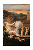 Allegory of Fickle Fortune or Melancholy Posters by Giovanni Bellini