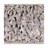 Portonaccio Sarcophagus, 180-190 A.D. Ancient Roman statue. Palazzo Massimo, Rome, Italy Art