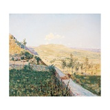 End of August in Pietramala (Pietra Mala) Giclee Print by Telemaco Signorini