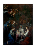 Birth of the Virgin Print by Giacinto Brandi