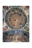 Paradise. Dome of the Baptistery Poster by Giusto de 'Menabuoi