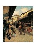Ponte Vecchio Affiches par Telemaco Signorini