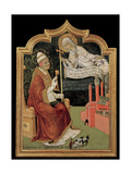 Virgin Mary Appears to Pope Callixtus III Giclee Print by Sano di Pietro