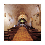 Convent of San Damiano, interior, 13th c. Assisi, Italy Prints