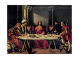 Supper at Emmaus Art by Giovanni Bellini