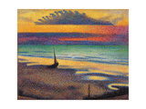 Beach at Heist Print by Georges Lemmen