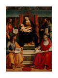 Madonna Enthroned with Child and Saints, Luca Signorelli, 1507. Brera Gallery, Milan, Italy Giclee Print by Luca Signorelli