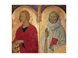 Polyptych. St. John the Evangelist and St. Romuald Print by Segna di Segna di