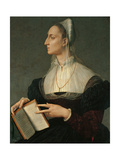 Portrait of Laura Battiferri Print by Bronzino Angelo
