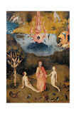 Garden of Earthly Delights-The Earthly Paradise Art by Hieronymus Bosch