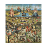 Garden of Earthly Delights,(Martyrs & Angels) by Hieronymus Bosch, c. 1503-04. Prado. Detail. Premium giclée print van Hieronymus Bosch