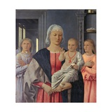Virgin with Child Giving His Blessing and Two Angels. By Piero della Francesca, 1478-80. Urbino. Giclee Print by  Piero della Francesca