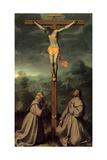 Crucifix with Sts. Bernardino & Anthony Print by Giovanni Battista Moroni
