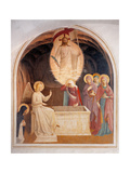 Christ Resurrected or The Message of the Angel Print by  Beato Angelico