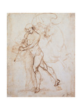 Drawing, Flagman Affiche par  Raphael