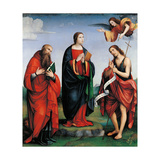 Immaculate Conception Appears to St. Anne Print by Francia Raibolini