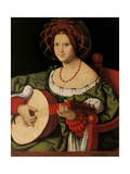 Lute Player Giclee Print by Andrea Solario