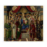 Altarpiece of San Barnabas, Virgin, Child, & Saints Giclee Print by Sandro Botticelli