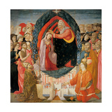 Coronation of Mary among the Angels and Saints, Di Biagio Baldassarre del Firenze, 15th c. Italy. Prints by Biagio Baldassarre del Firenze