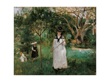 Butterfly Hunt Poster by Berth Morisot