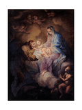 St. Francis Receives the Child by Madonna Prints by Giuseppe Nasini