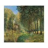 Resting On The Shore Of The Brook Posters by Alfred Sisley