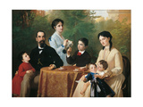 Guastalla Family Reproduction procédé giclée par Adeodato Malatesta