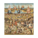Garden of Earthly Delights,(Martyrs & Angels) by Hieronymus Bosch, c. 1503-04. Prado. Detail. Giclee Print by Hieronymus Bosch