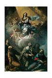 Virgin Mary, Sts. Claire, Francis, Bonaventure, Agnes, Polissena Posters by Francesco Paglia