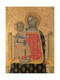 Madonna and Child Enthroned Prints by Allegretto Nuzi