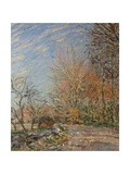 Assisi Upper Church Print by Alfred Sisley