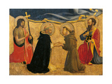 Madonna and Child with Sts. John, Dominic, Francis, Paul Poster by  Beato Angelico