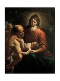 Madonna and Child with St. Christopher, Gioacchino Assereto, 1649. Private collection, Italy Prints by Gioacchino Assereto