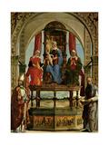Portuense Altarpiece. Virgin&Child,Sts. Anne,Elisabeth,Augustine & Peter. Ercole de' Roberti, 1481. Prints by Ercole de' Roberti