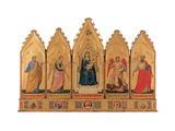 Madonna and Child with Saints, School of Giotto,  1933-34. National Gallery, Bologna, Italy Art by  Giotto di Bondone