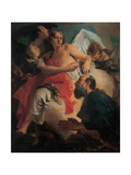 Abraham Praying before the Three Angels Prints by Tiepolo Giambattista
