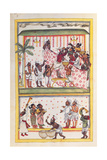 Wedding scenes. Drawing of Indian subject commissioned by Niccolao Manucci 18th c. Posters