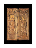 David and St. Gregory the Great, Ivory diptych, 6th c. A.D. Cathedral Museum, Brianza, Italy Posters