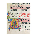 Illuminated manuscript by Benvenuto di Giovanni, 15th c. Osservanza Basilica, Siena, Italy Prints by  Benvenuto di Giovanni