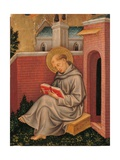 Valle Romita Polyptych, St. Thomas Aquinas Art by Gentile da Fabriano