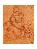 Drawing of Madonna and Child with St. Anne Prints by Cesare da Sesto