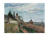 Courthouse at Pontoise Affiches par Camille Pissarro