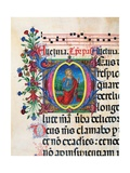 Psalter with holiday Hymns, illuminated manuscript, 15th c. Osservanza Basilica, Siena, Italy Prints