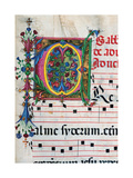Psalter with holiday Hymns, illuminated manuscript, 15th c. Osservanza Basilica, Siena, Italy Print