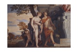 Venus and Mercury introducing to Jupiter their son Anteros Posters by  Veronese